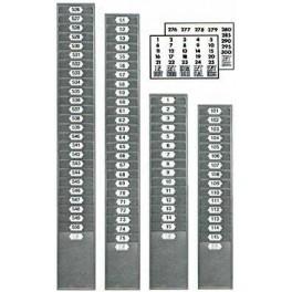 Casellario in Metallo da 25 posti per schede da mm. 105