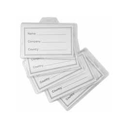 Porta Badge in plastica x50