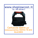 Cartuccia nastro per timbracartellino VERTEX TR-810 BLACK per PIX.200