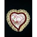 Bomboniera con merletto cuore Personalizzato in Porcellana