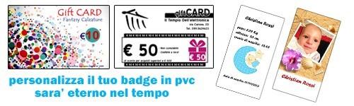 Badge pvc personalizzato