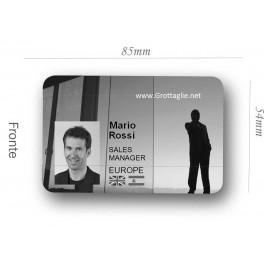 Badge magnetico personalizzato