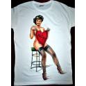 T-shirt in cotone donna /uomo dipinta a mano