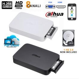 NVR SMART BOX 8 CANALI 1080P CLOUD HDMI 56MBPS - DAHUA - NVR108